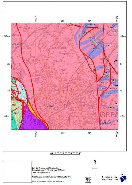 BGS Geological Centred Map at 1:50,000 - PDF by Email